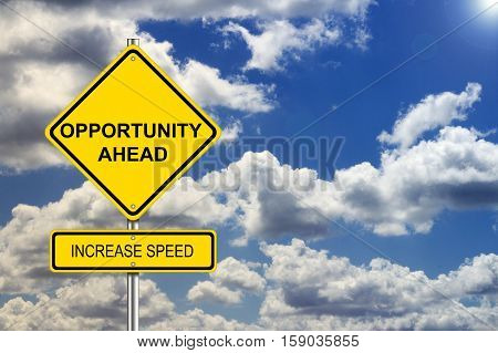 Opportunity road sign job career options concept