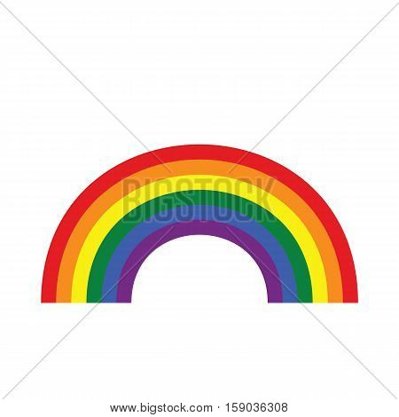 Rainbow Icon Flat. Homosexual Minority Concept Icon.