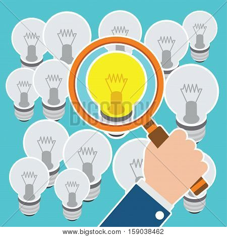 looking for best idea vector illustration concept