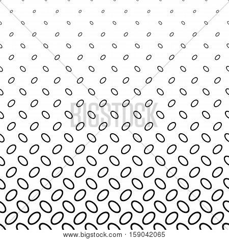 Abstract monochrome ellipse pattern background design - vector illustration