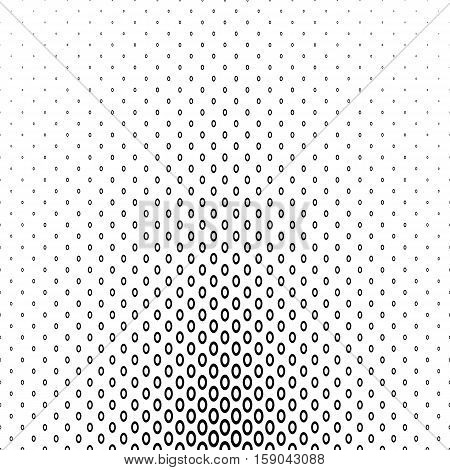Abstract monochrome geometric ellipse ring pattern background design