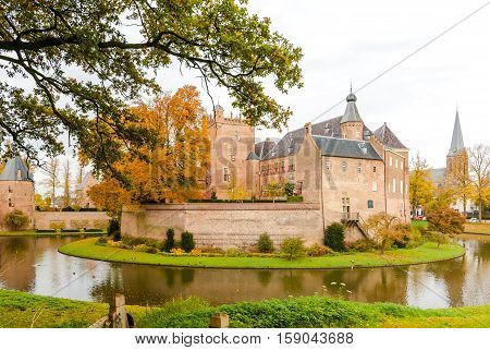 Tower of castle huis Bergh (Middle Ages) in 's Heerenberg in (Holland) The Netherlands