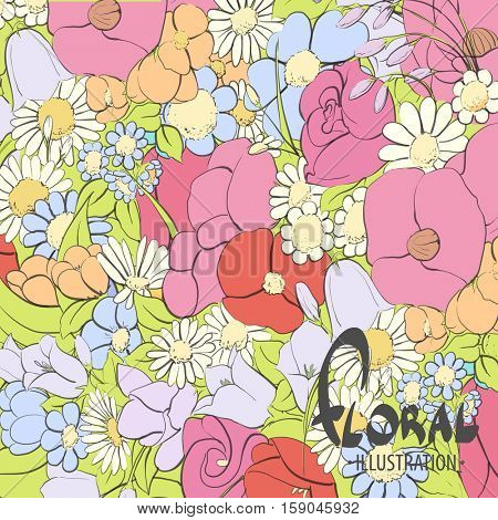 Beautiful floral background for you