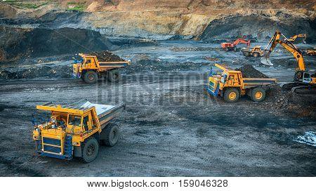 PROKOPYEVSK, KEMEROVO REGION, RUSSIA - DECEMBER 7, 2016: Production of coal in the coal mine