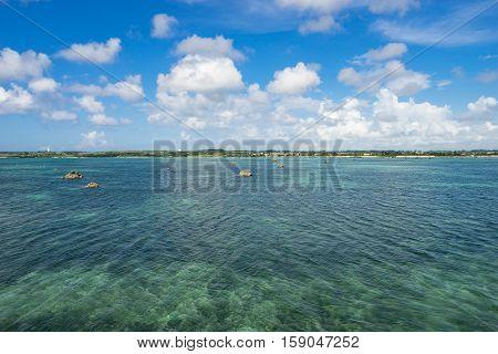 Sawada Beach (Sawada no Hama) of Miyako Island in Okinawa, Japan.