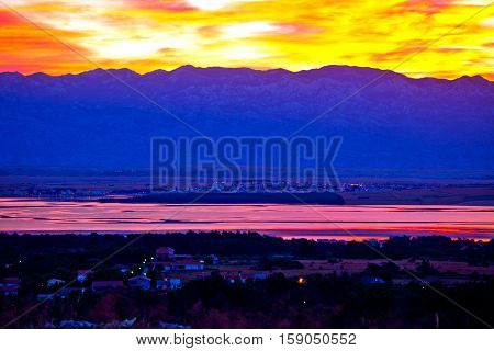 Vir And Pag Islands At Dawn