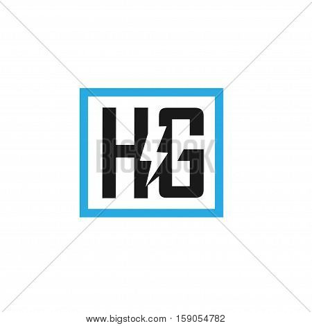 HG letter electric design vector illustration template, power H letter logo vector, letter H and G logo vector, creative Letter HG letter logo