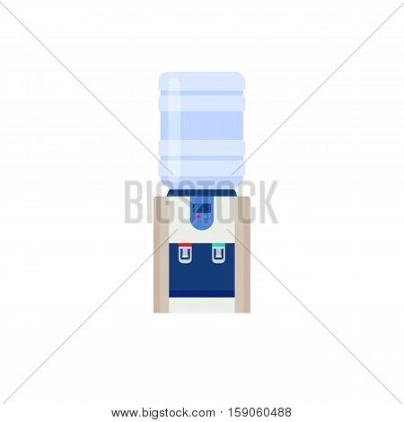 Table water cooler and bottle. Modern flat illustration isolated on white background