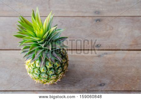 Pineapple colorful collection from the floor unappetizing.