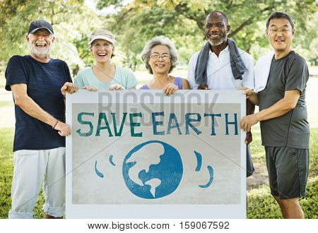 Save Earth Ecology Environment Conservation Concept