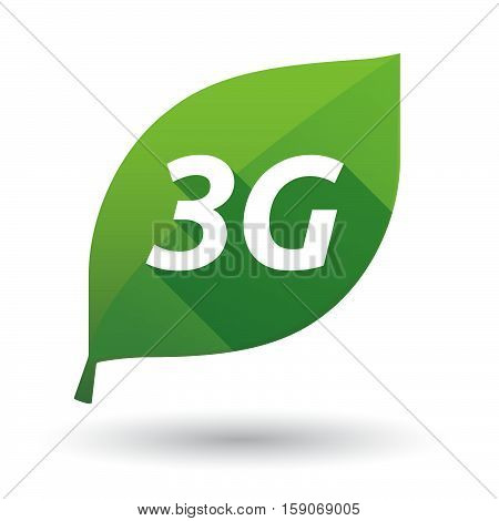 Isolated Leaf Icon With    The Text 3G