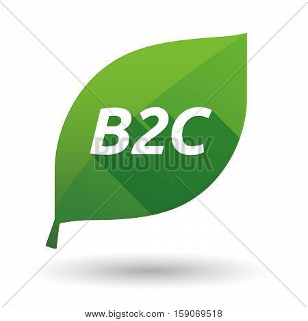 Isolated Leaf Icon With    The Text B2C