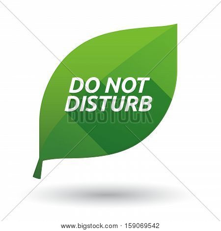 Isolated Leaf Icon With    The Text Do Not Disturb