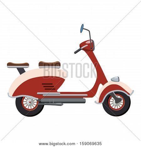Scooter motorbike icon. Cartoon illustration of motorbike vector icon for web design
