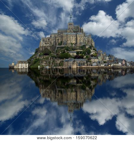 Mont Saint-michel, Normandy, France--one Of The Most Visited Tourist Sites In France. Designated As