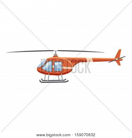 Helicopter icon. Cartoon illustration of helicopter vector icon for web design