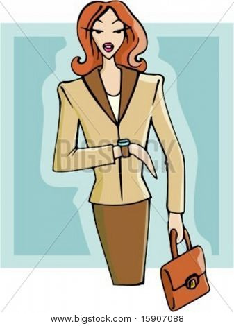 Businesswoman waiting for an appointment. Check my portfolio for many more images of this series.