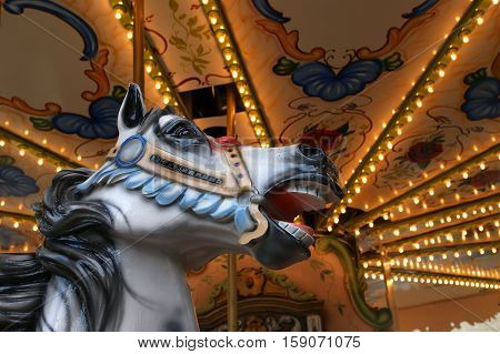 Carousel In Paris Near The Eiffel Tower
