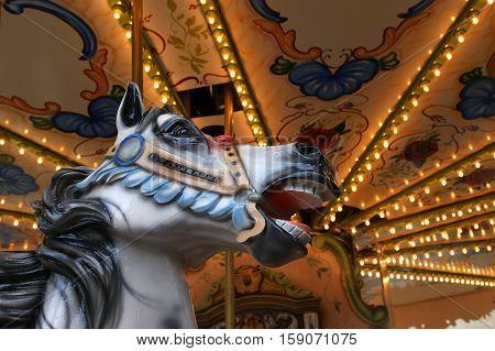 Carousel In Paris Near The Eiffel Tower