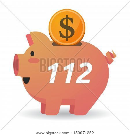 Isolated Piggy Bank With    The Text 112