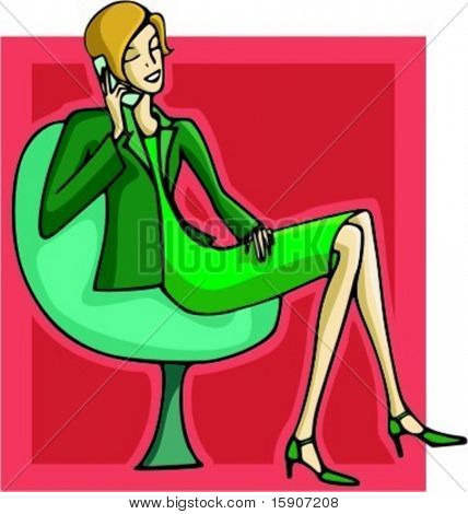 Businesswoman using a mobile phone. Check my portfolio for many more images of this series.