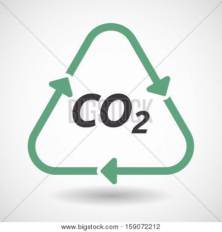 Isolated Recycle Sign With    The Text Co2