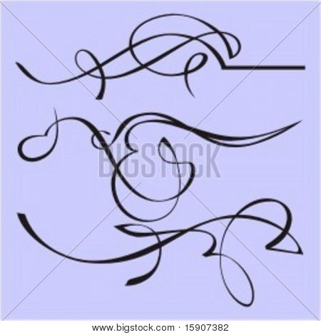 Exquisite Design Elements 20 (Vector) Very clean and exquisite design elements of ornamental type.  Very clean vectors!