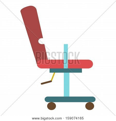 Barber chair icon. Flat illustration of barber chair vector icon for web design