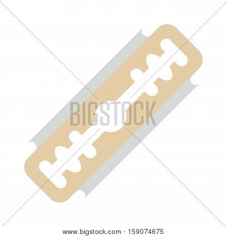 Razor blade icon. Flat illustration of razor blade vector icon for web design