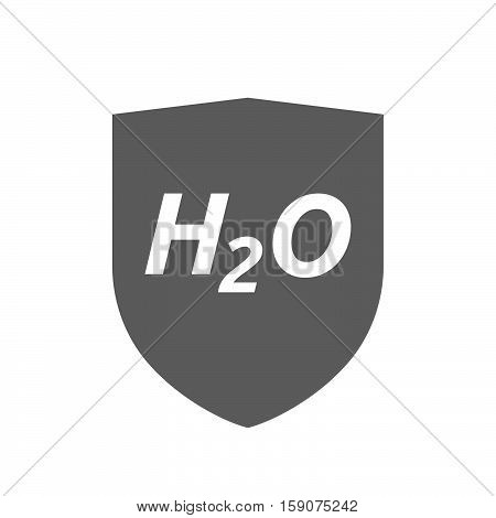 Isolated Shield With    The Text H2O