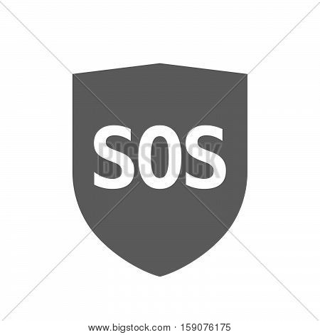 Isolated Shield With    The Text Sos