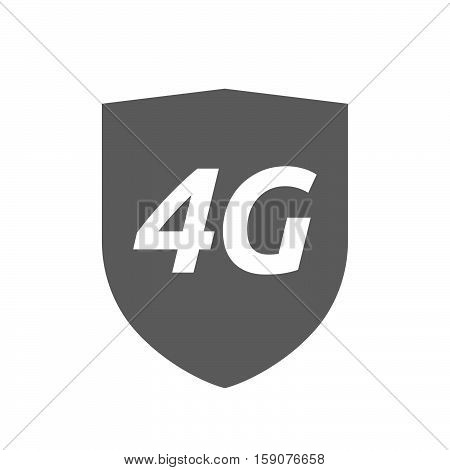 Isolated Shield With    The Text 4G