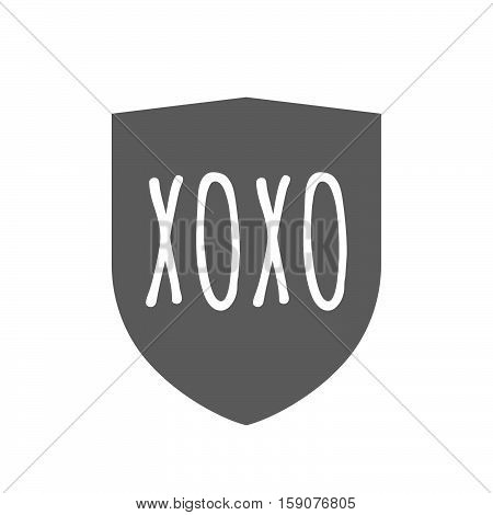 Isolated Shield With    The Text Xoxo