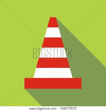 Traffic cone icon. Flat illustration of traffic cone vector icon for web design