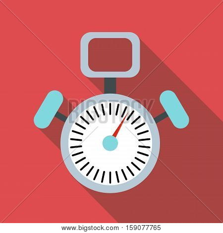 Stopwatch icon. Flat illustration of stopwatch vector icon for web design