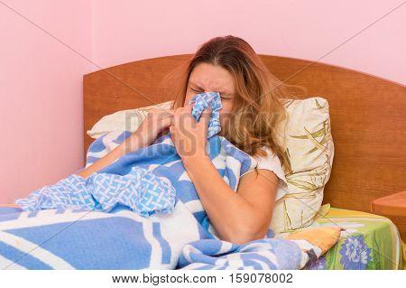 She Sneezes Ill With Acute Respiratory Illness