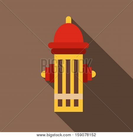 Fire hydrant icon. Flat illustration of fire hydrant vector icon for web design