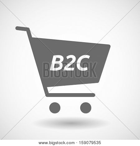 Isolated Cart With    The Text B2C