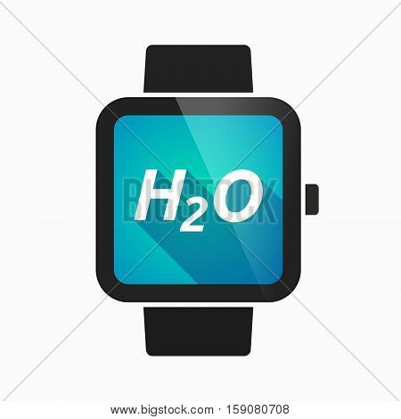 Isolated Smart Watch With    The Text H2O