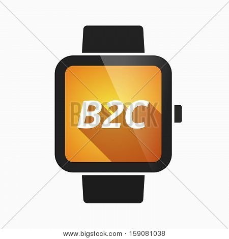 Isolated Smart Watch With    The Text B2C
