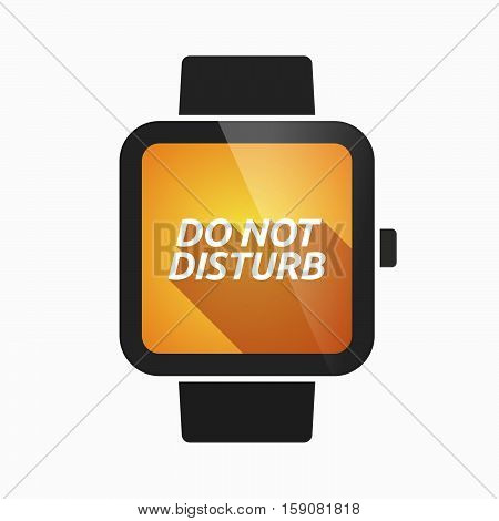 Isolated Smart Watch With    The Text Do Not Disturb