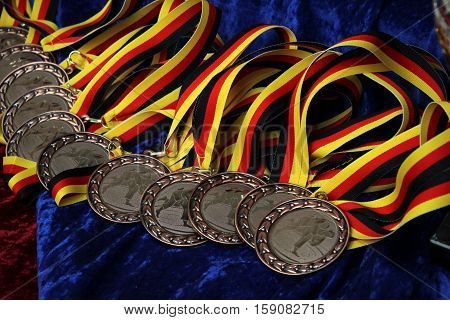 Medals / Sports medal for rewarding athletes.  Medals close-up.