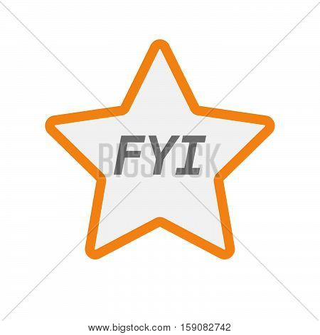 Isolated Star Icon With    The Text Fyi