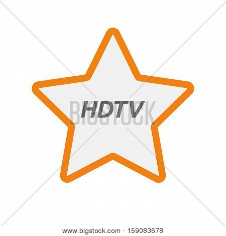Isolated Star Icon With    The Text Hdtv