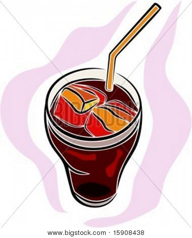 Cold drink.Vector illustration
