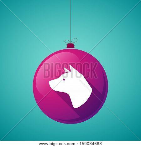 Long Shadow Christmas Ball With  A Dog Head