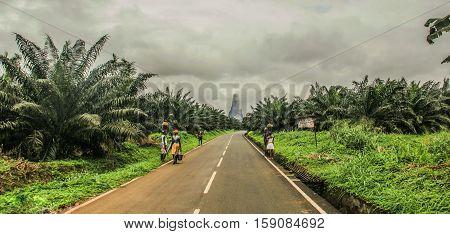 Landscape of Santo Tome and Principe islands
