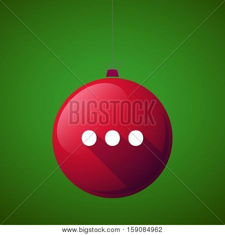 Long Shadow Christmas Ball With  An Ellipsis Orthographic Sign