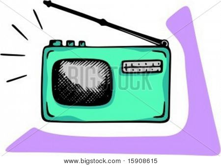 Mini radio.Vector illustration.