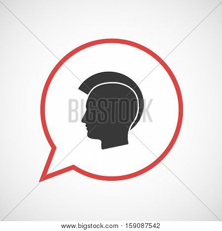 Isolated Balloon With  A Male Punk Head Silhouette